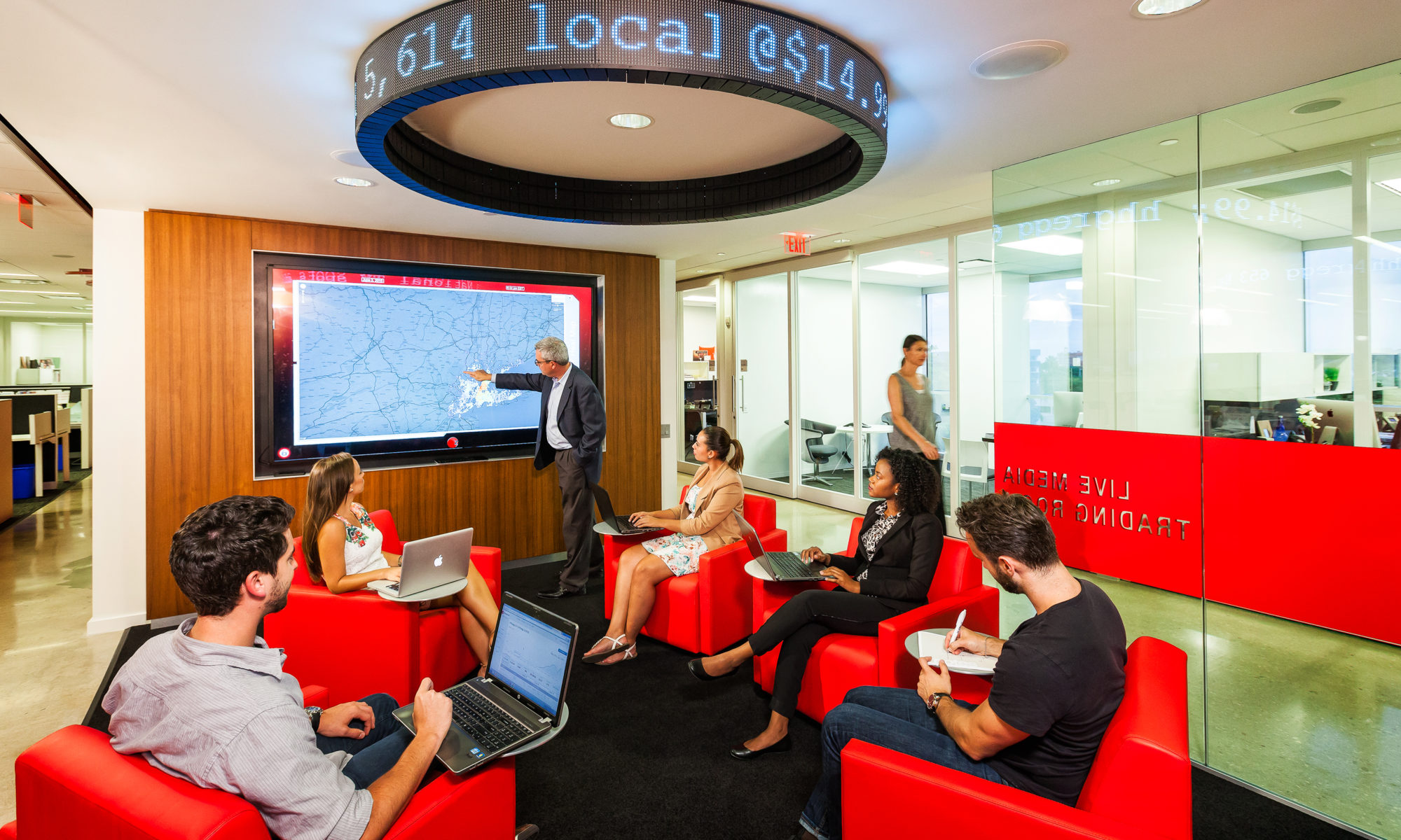 Live Media Trading Room for Zimmerman Advertising designed by Gustie Creative LLC