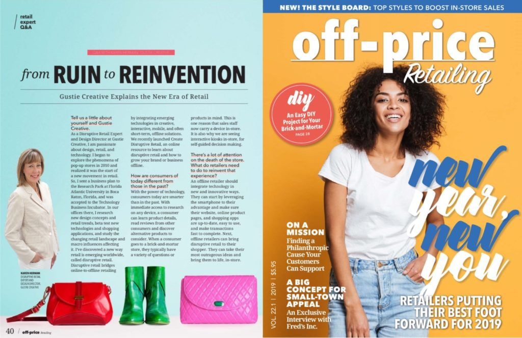 Gustie Creative in Off-Price Retailing Jan 2019