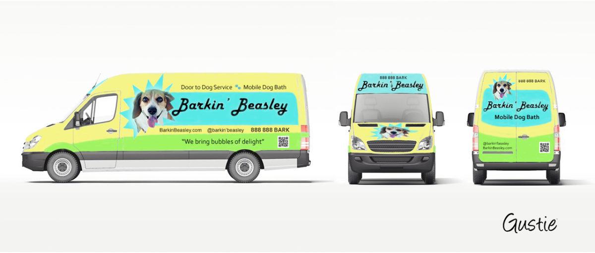 Barkin' Beasley Concept Retail Van by Gustie Creative
