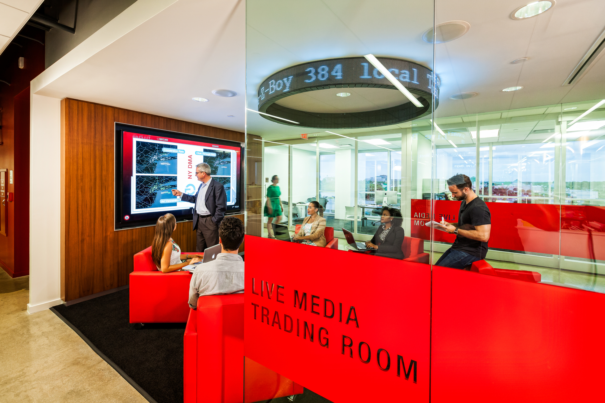Virtual Room, Live Media Trading Room, Zimmerman Advertising, by Gustie Creative