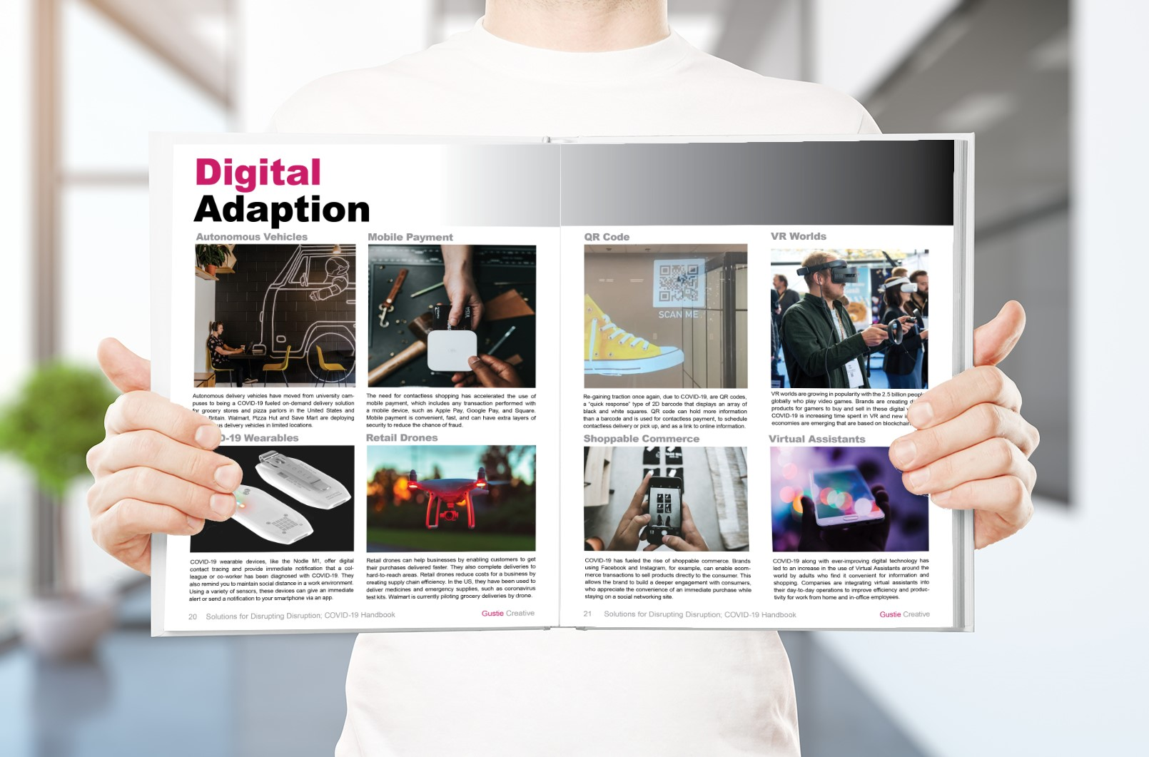 Solutions for Disrupting Disruption, COVID-19 Handbook, Digital Adaption Spread